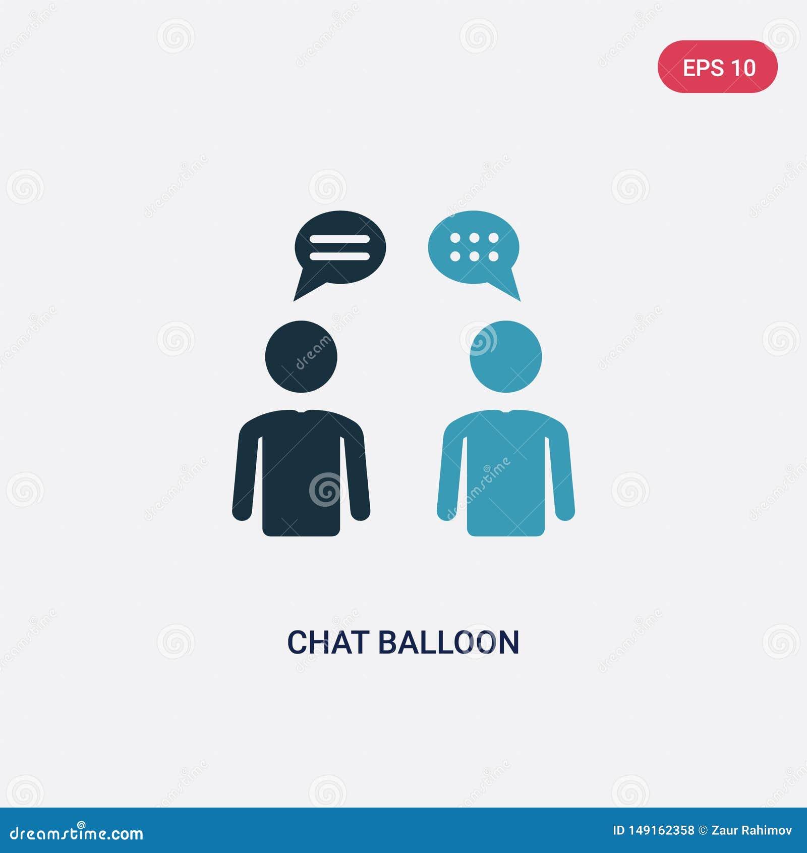 从人概念的两种颜色的闲谈气球传染媒介象 被隔绝的蓝色闲谈气球传染媒介标志标志可以是网的,机动性用途