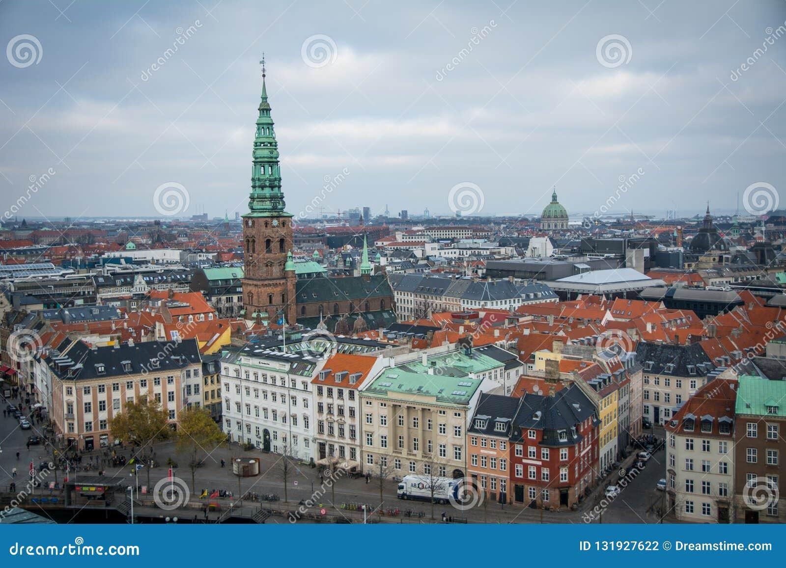 从克里斯蒂安堡塔的看法 哥本哈根 丹麦