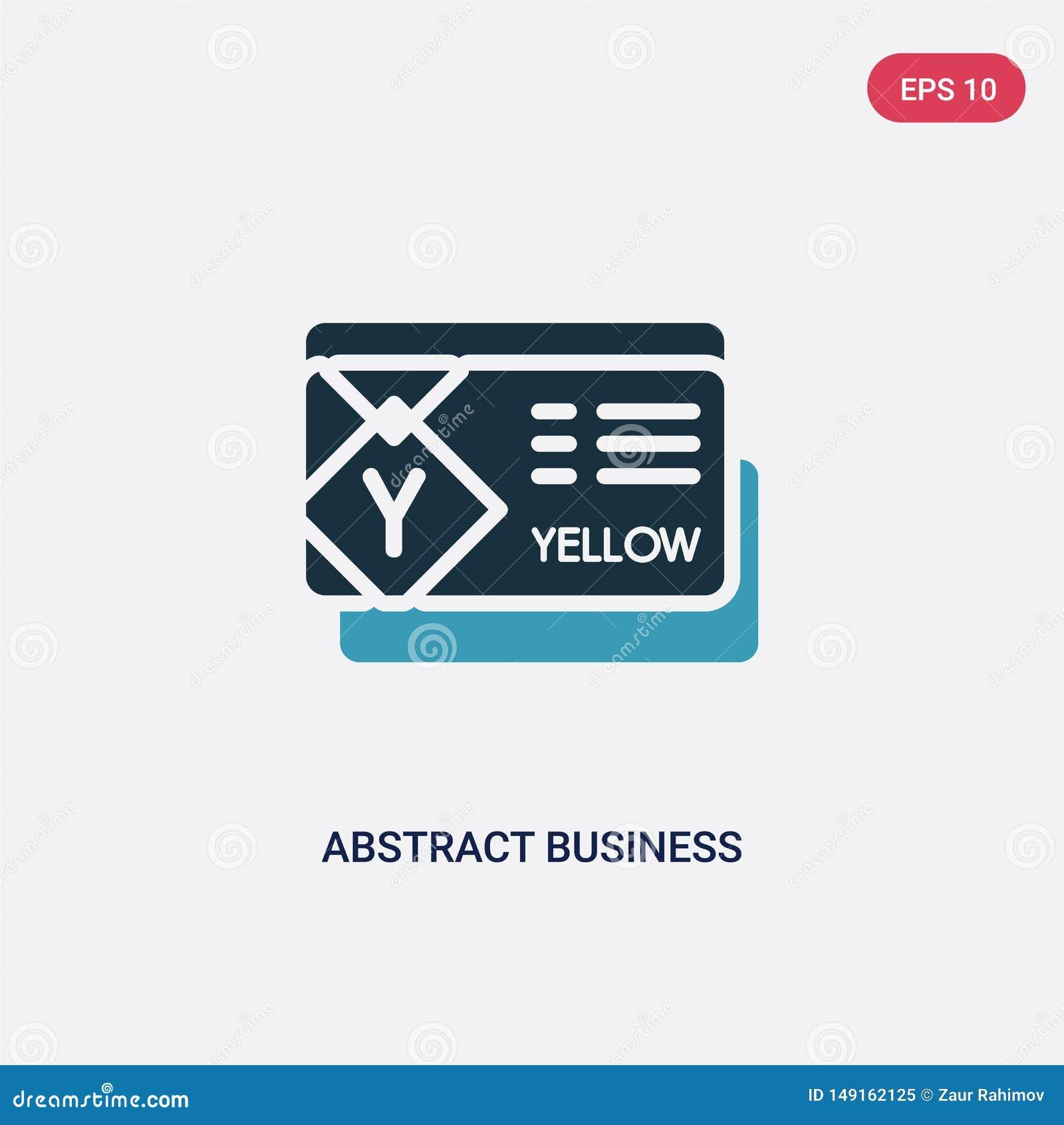 从其他概念的两种颜色的抽象名片传染媒介象 被隔绝的蓝色抽象名片传染媒介标志标志可以是