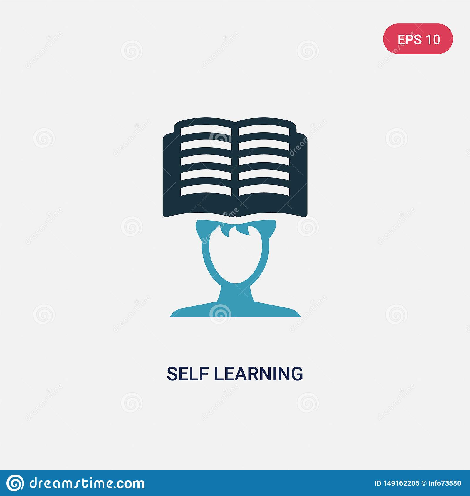 从其他概念的两种颜色的自我学习传染媒介象 被隔绝的蓝色自我学习传染媒介标志标志可以是网的,机动性用途
