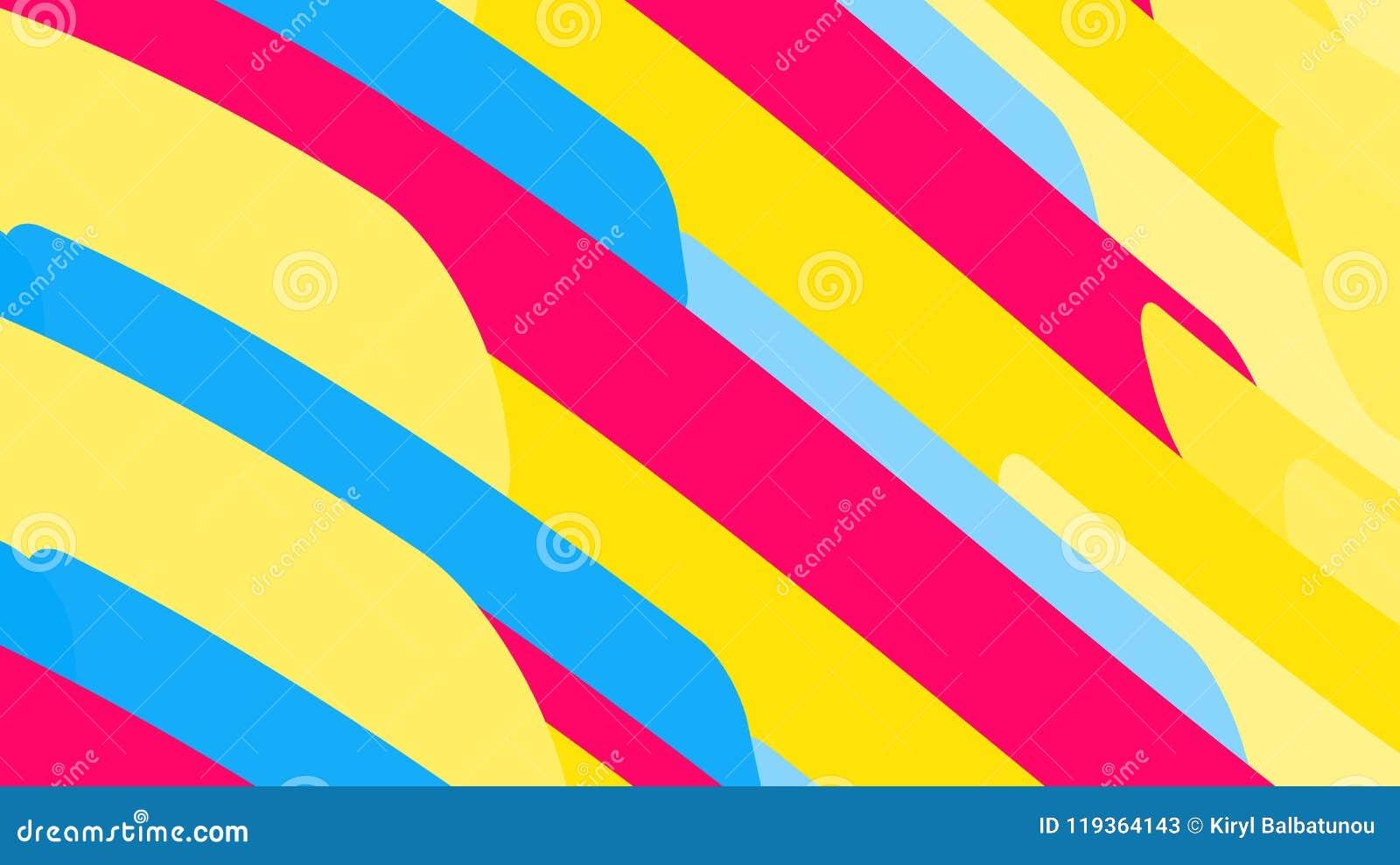从几何形状小条波浪minimalistic不可思议的多彩多姿的抽象明亮的线的简单的背景  传染媒介illu