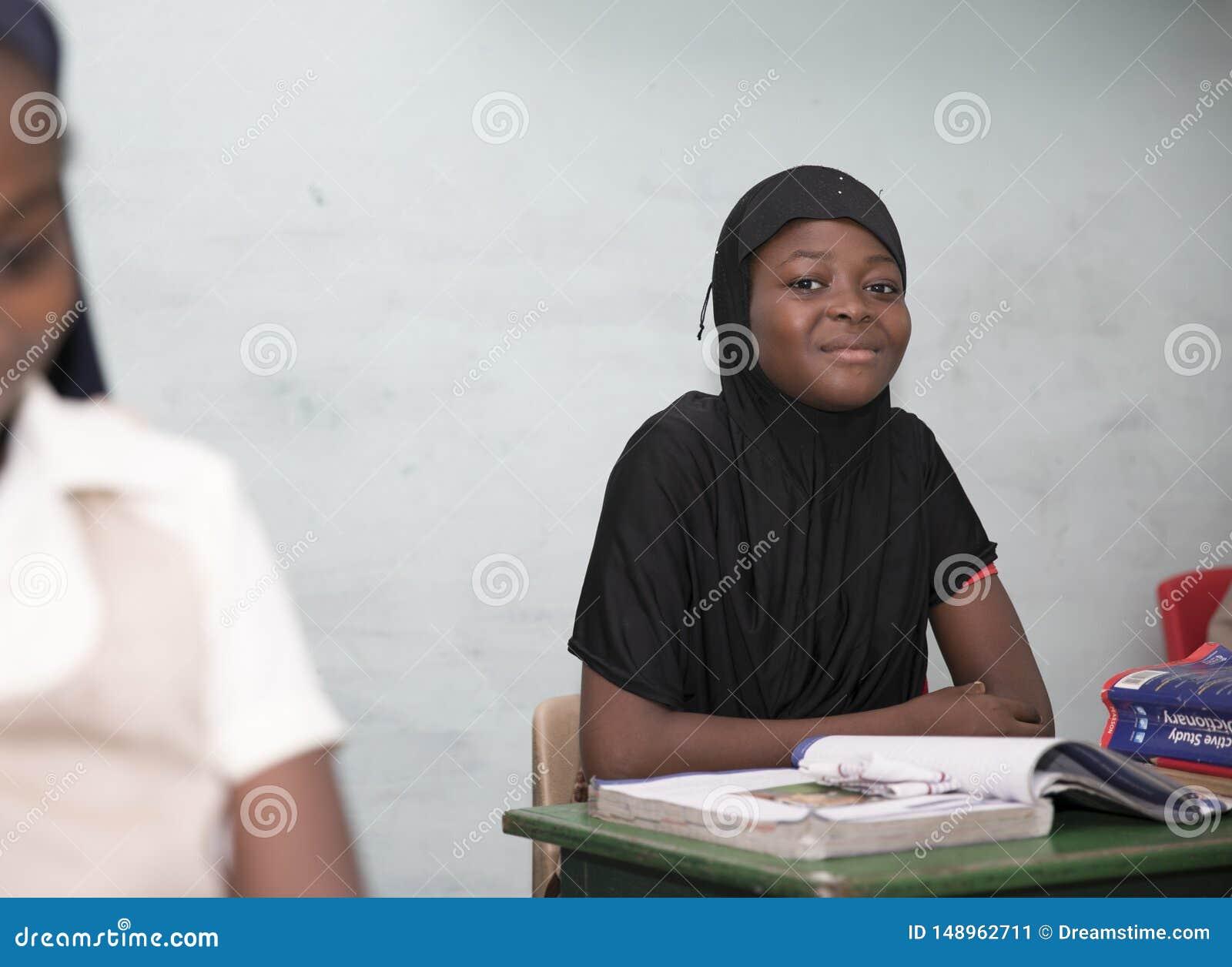 从加纳,西非的基本的小学生