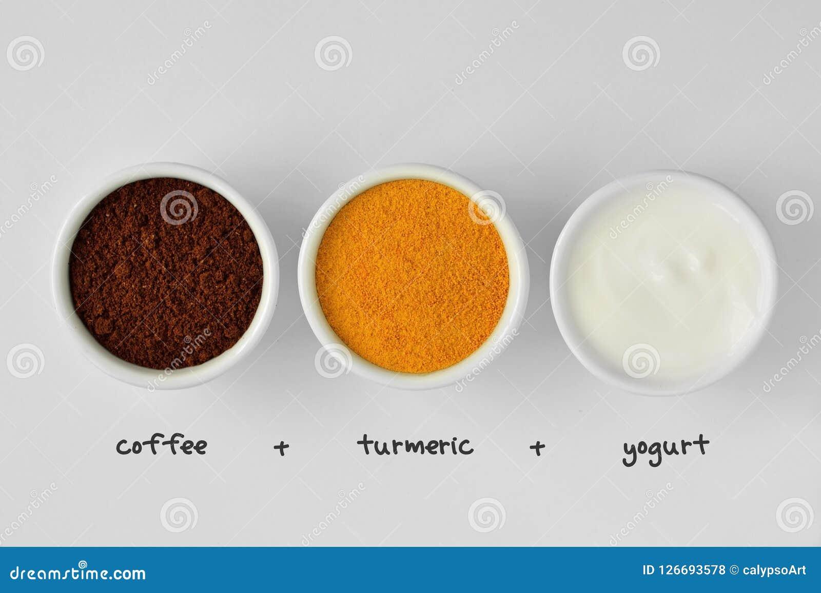 从咖啡、姜黄和酸奶做的自创面罩