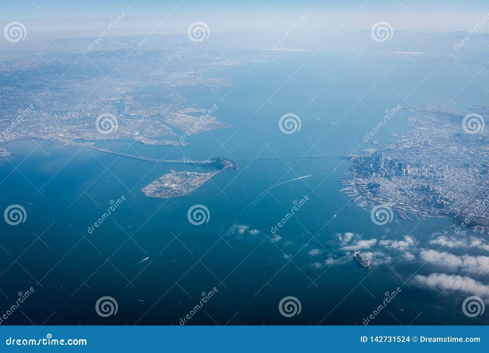从天空的旧金山