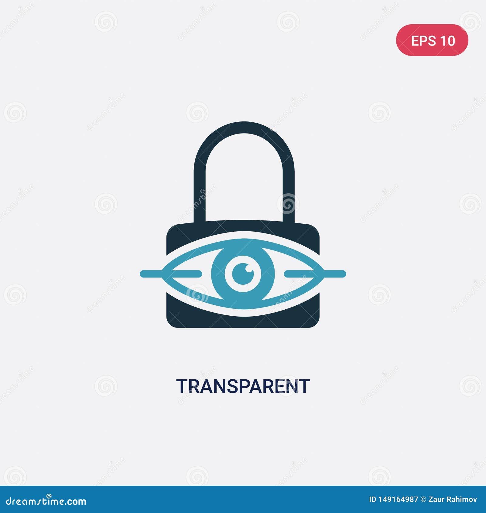 从安全概念的两种颜色的透明传染媒介象 被隔绝的蓝色透明传染媒介标志标志可以是网的,机动性用途