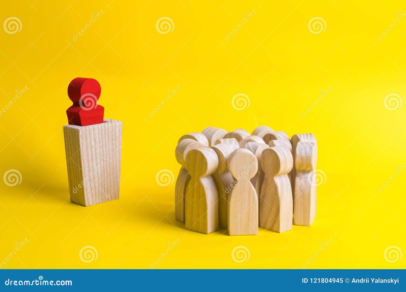 从对的讲台的了不起的领导讲讲话人演讲人群  领导和领导质量, c的企业概念