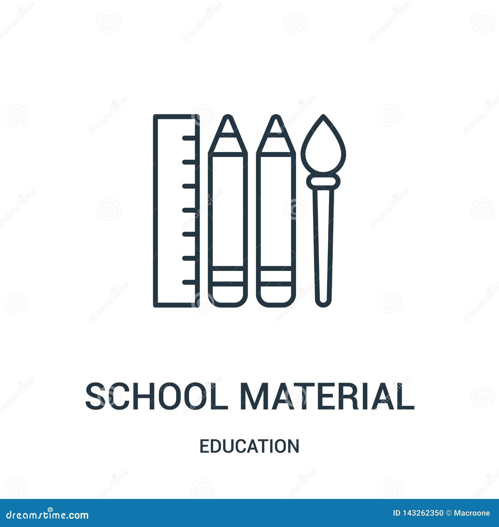从教育汇集的学校物质象传染媒介 稀薄的线学校物质概述象传染媒介例证
