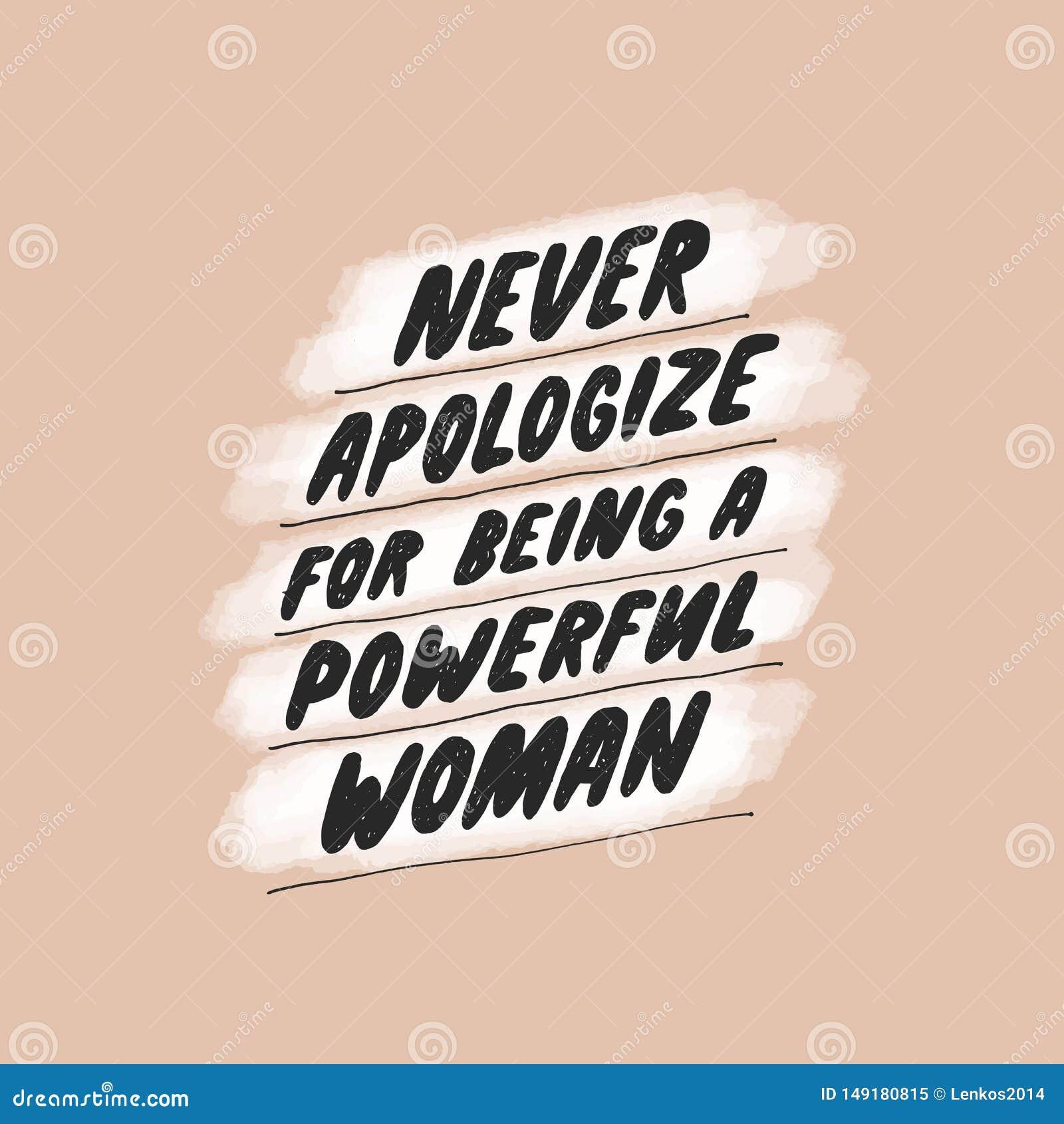 从未为是道歉一名强有力的妇女 海报的激动人心的娘儿们行情,墙壁艺术,纸设计 r