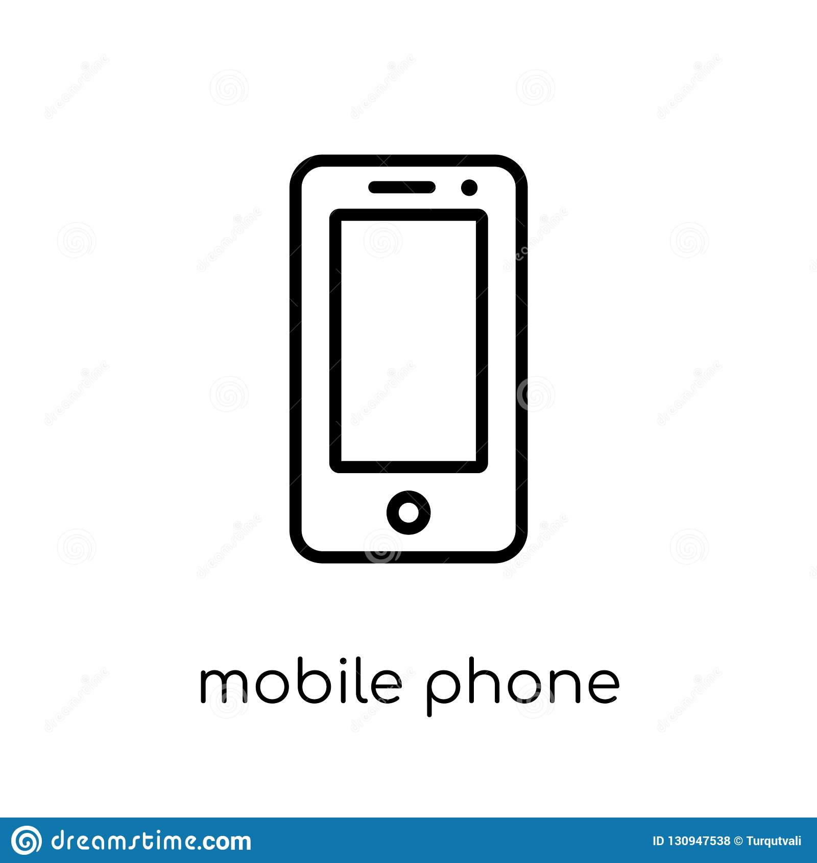 从电子设备汇集的手机象