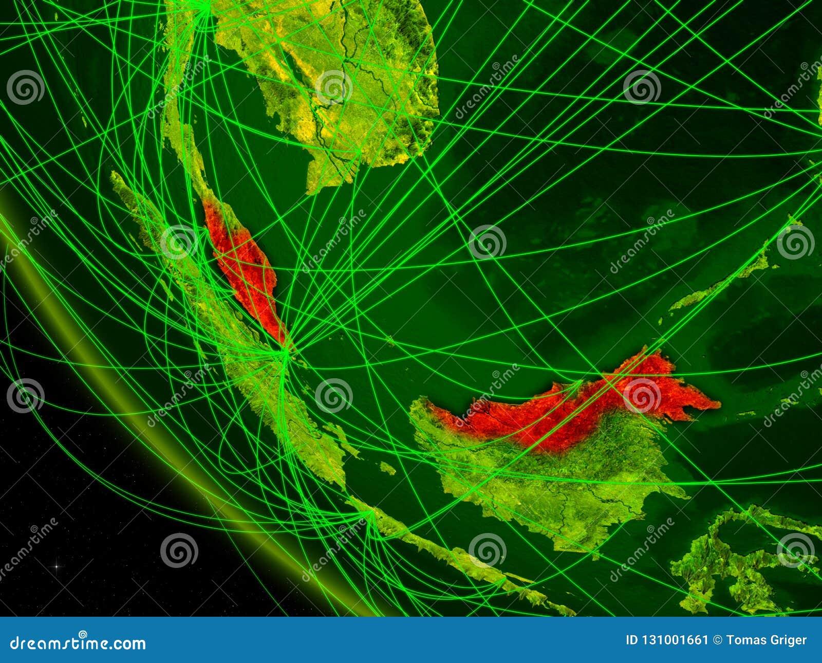 从空间的马来西亚与网络