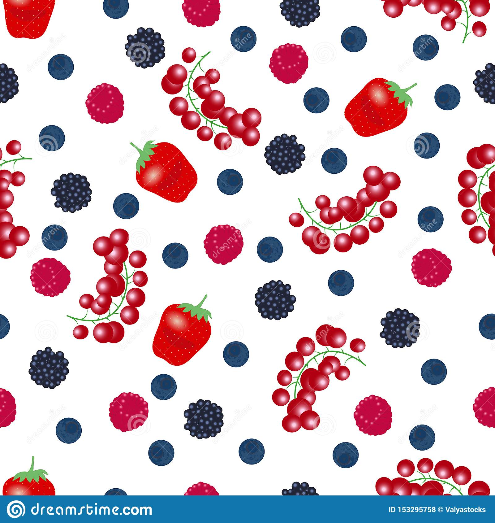 从落的成熟莓果的无缝的样式