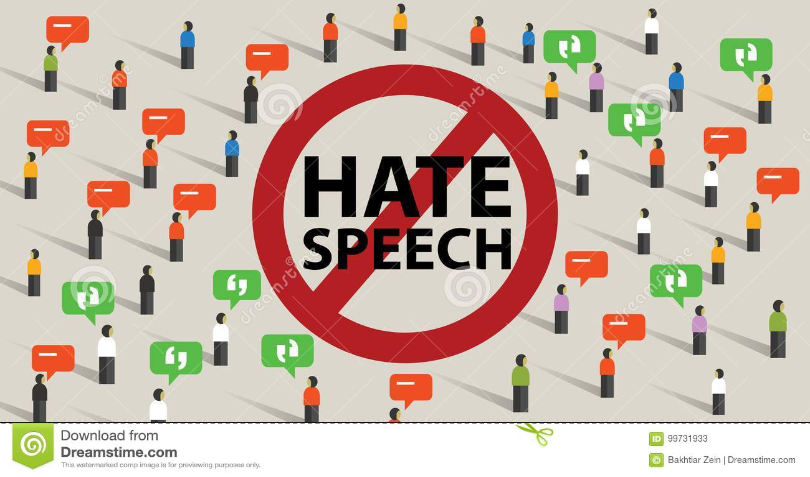 从评论积极的通信停止仇恨言论冲突暴力开始由人群