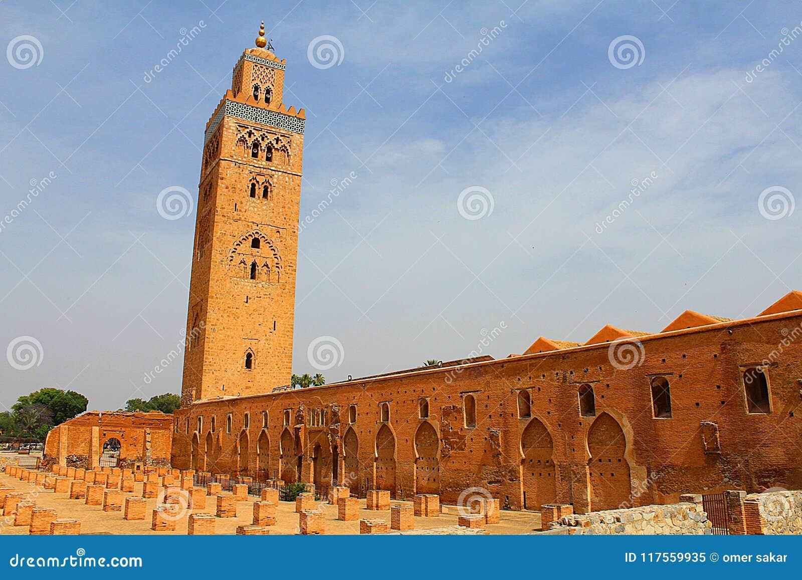 从马拉喀什摩洛哥的Cutubia清真寺