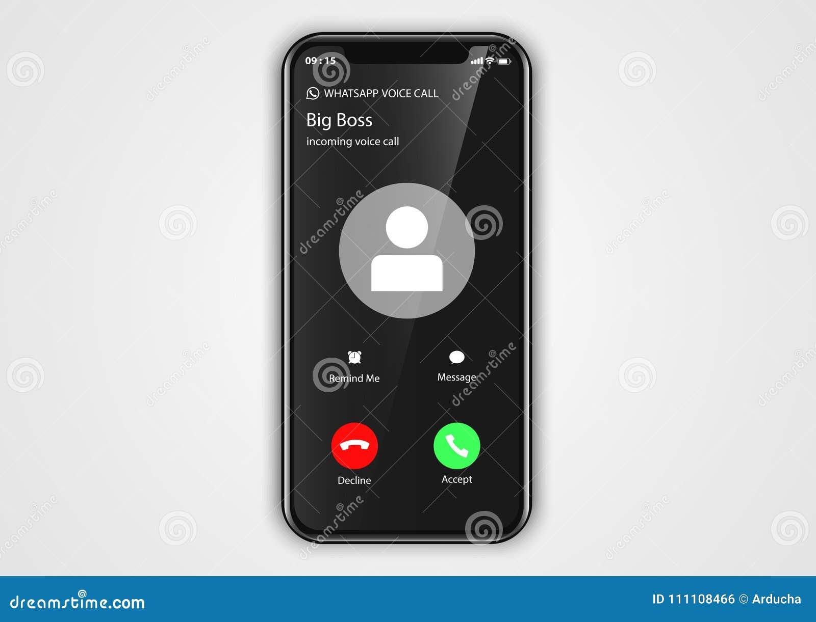从iphone用户界面的进来电话屏幕