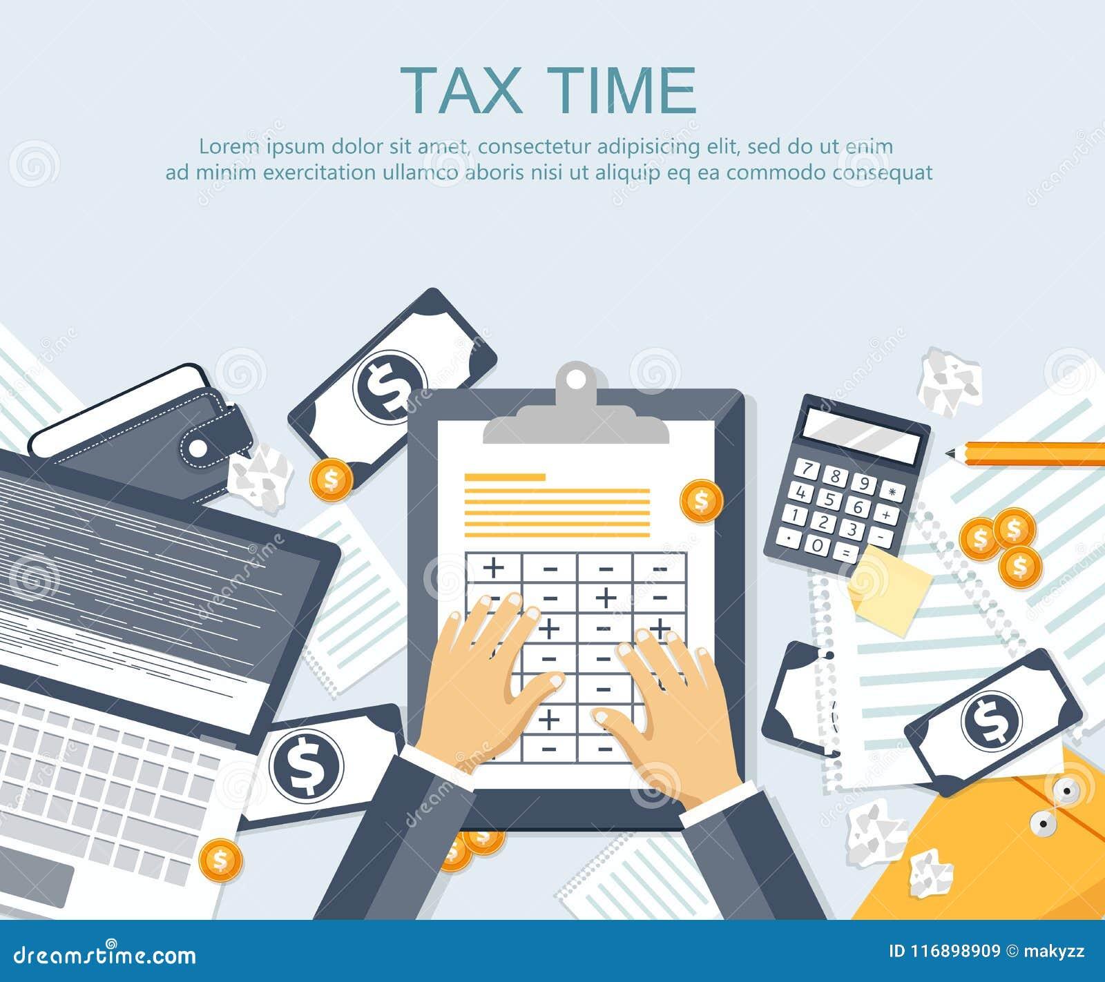 付税 政府,州税 数据分析,文书工作,金融研究,报告 商人演算纳税申报