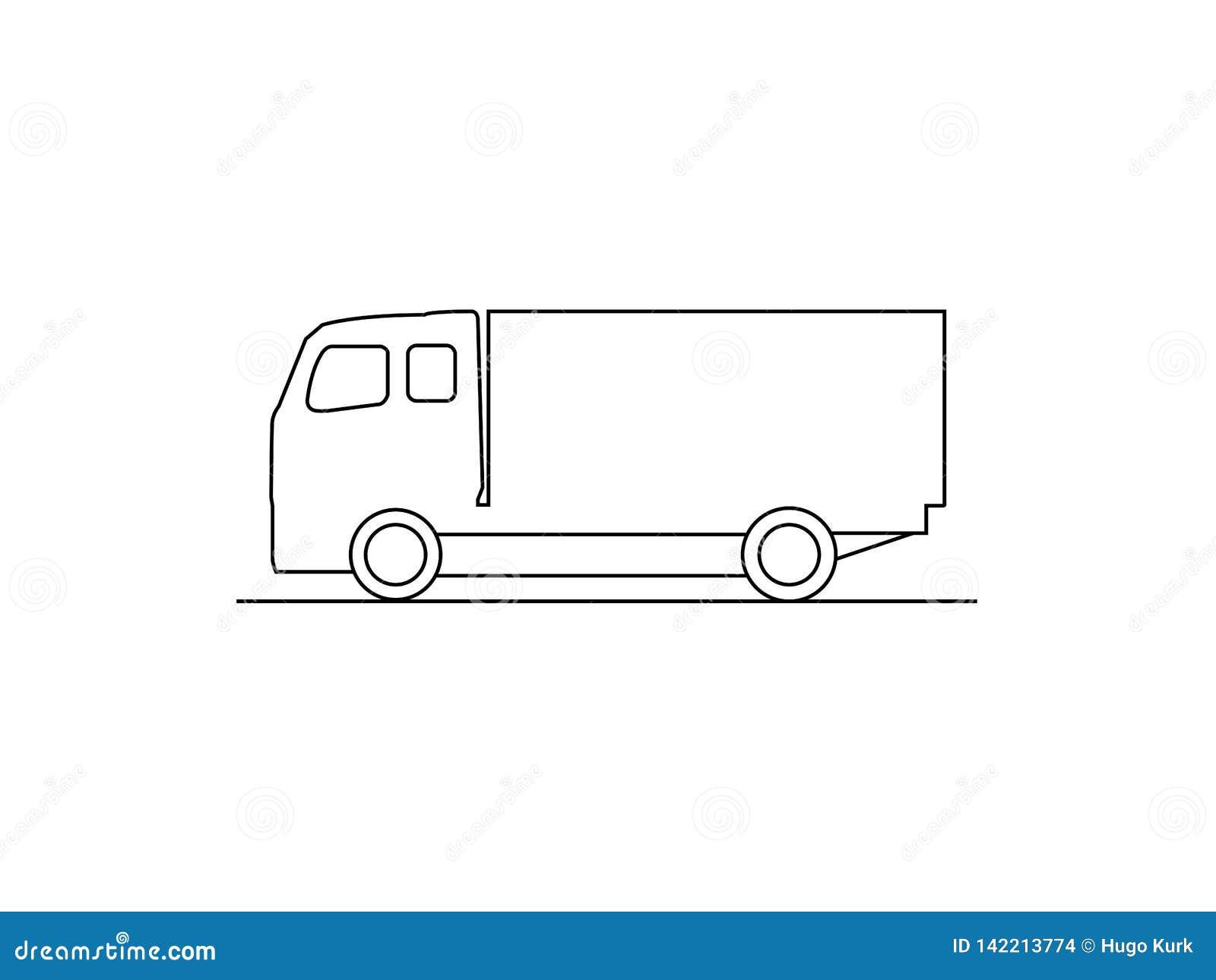 卡车侧视图
