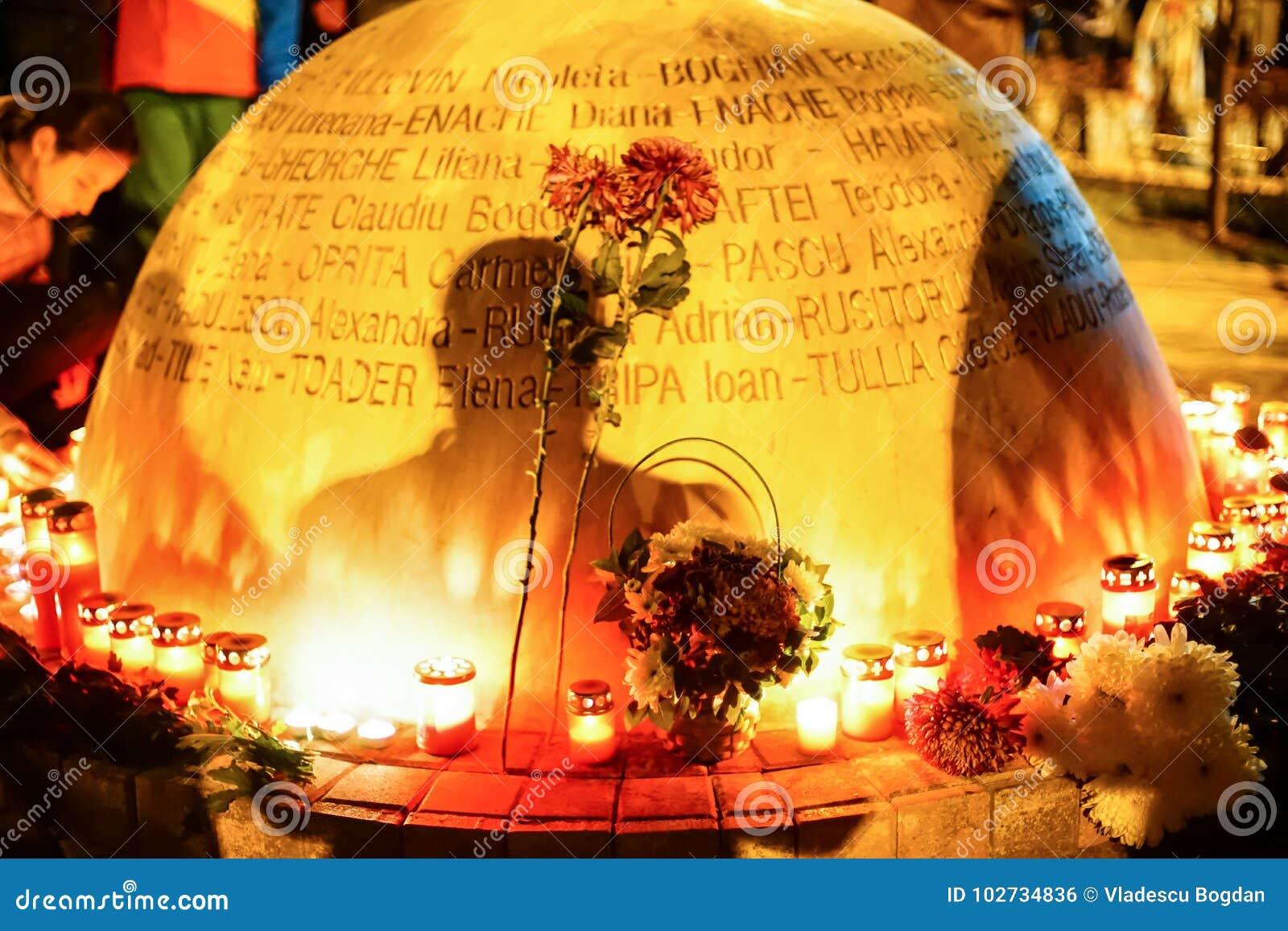 以记念Colectiv俱乐部悲剧受害者的纪念碑