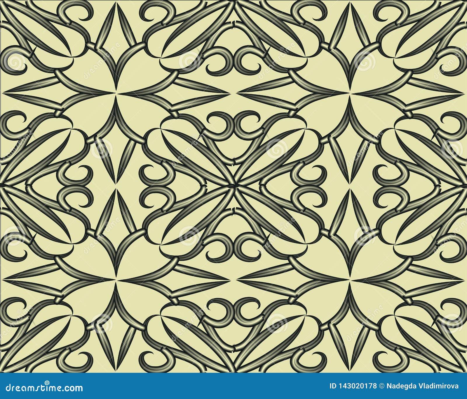 仿造无缝的集 与错觉作用的几何纹理