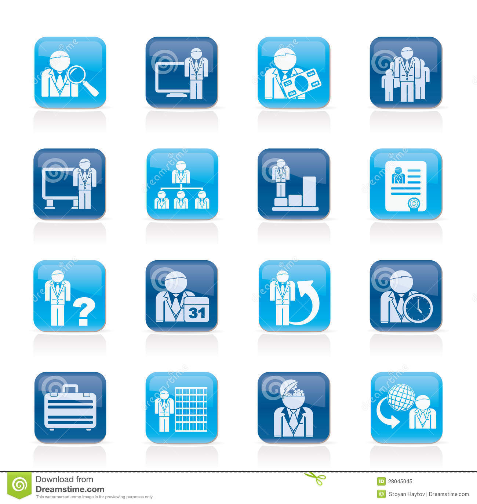 企业、管理和层次结构图标