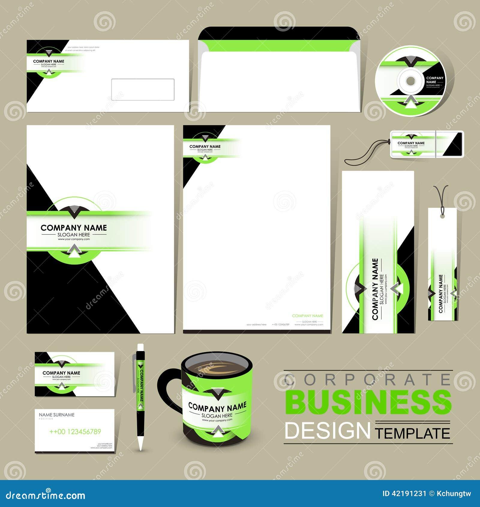 企业与绿色和黑色的公司本体模板