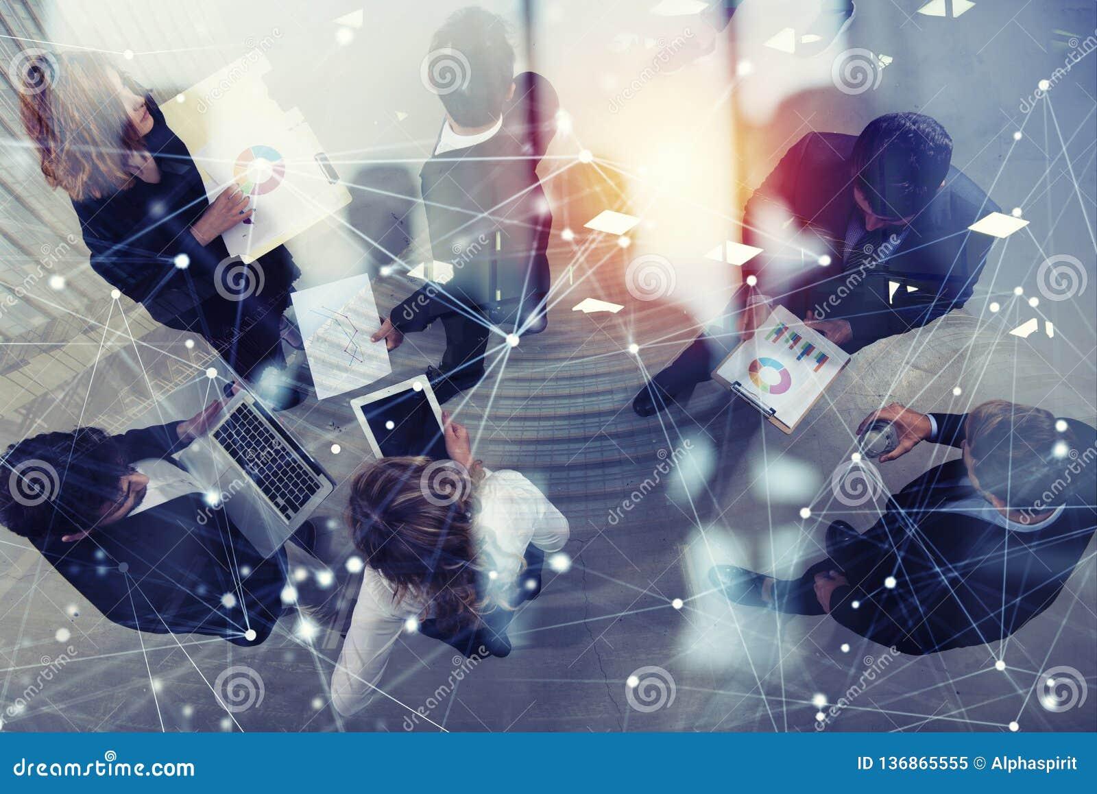 企业人队一起研究公司统计 Shooted从上面 配合和合作的概念