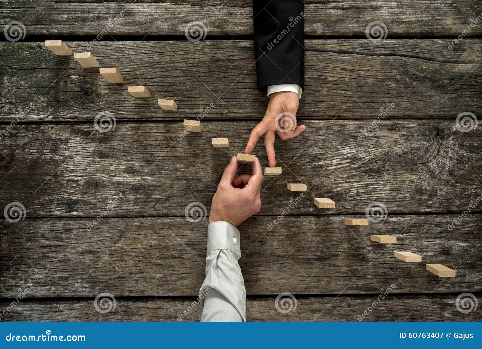 企业合作和支持的概念性图象