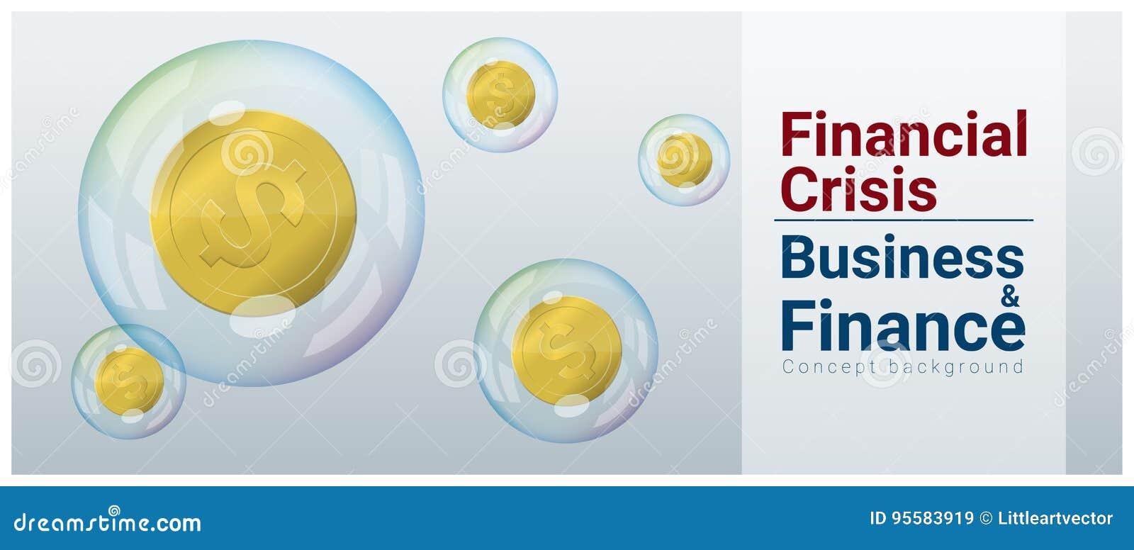 企业和财务与金融危机的概念背景