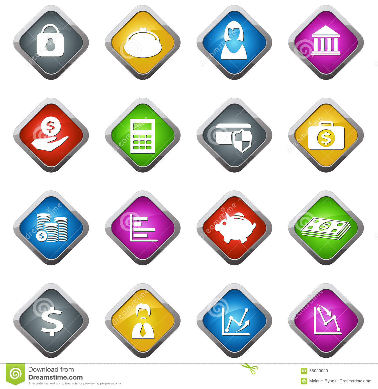 事务和财务导航网站和用户界面的象.