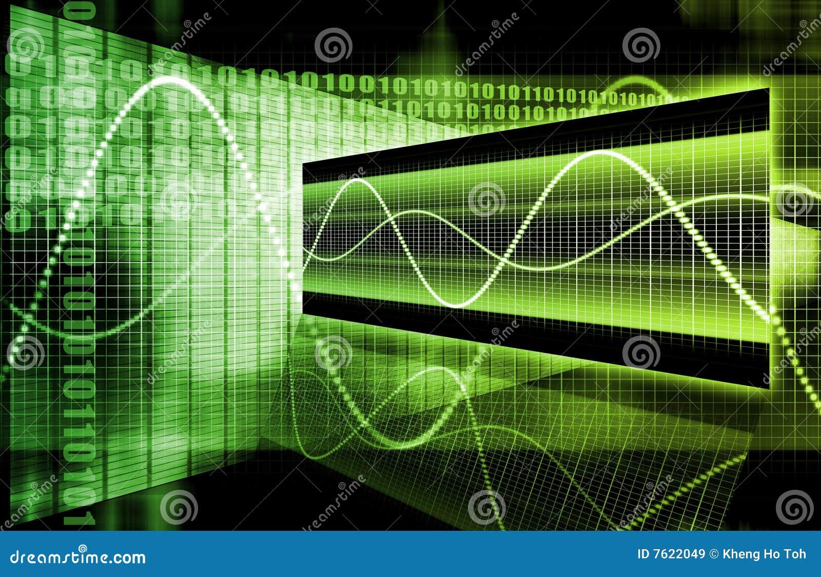 企业图表未来派绿色