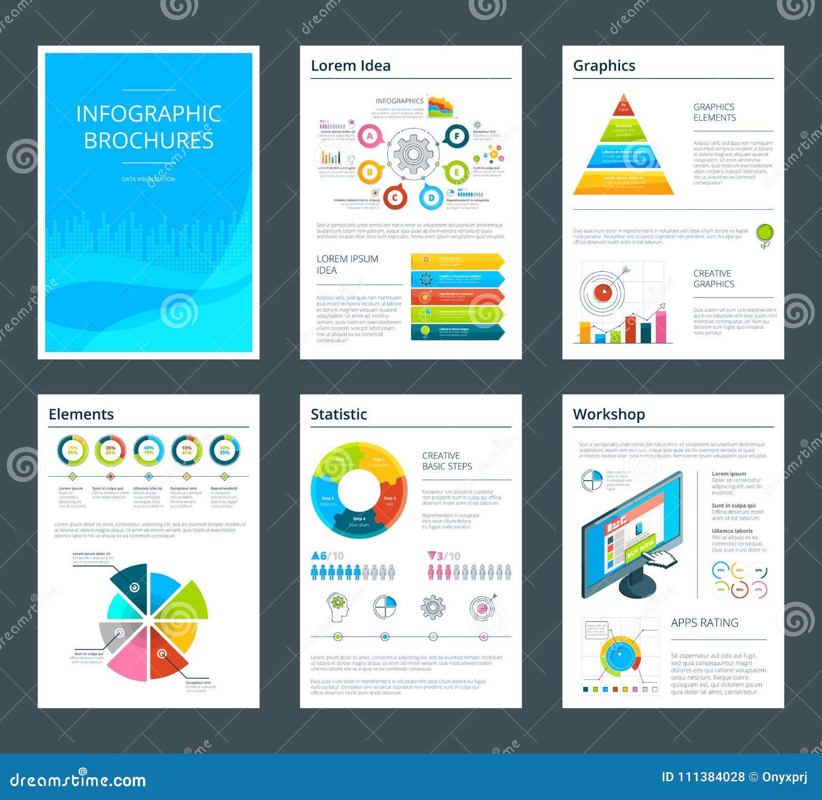 企业小册子模板与infographics的