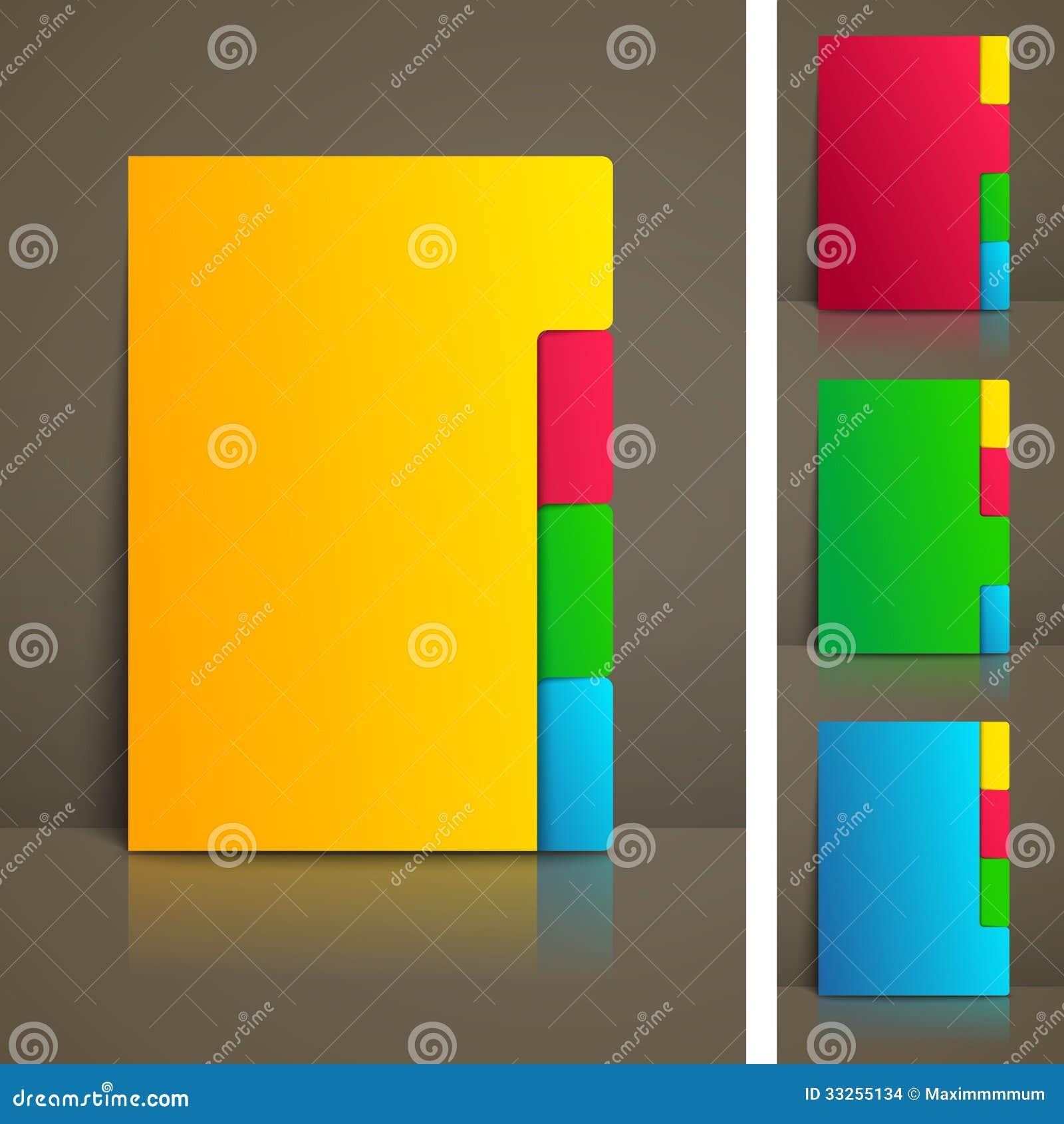 与选项的五颜六色的企业小册子模板