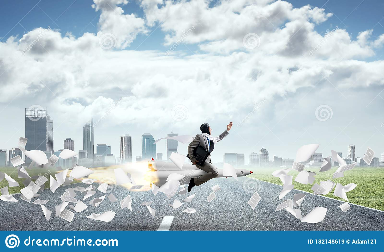 企业成功和目标成就概念