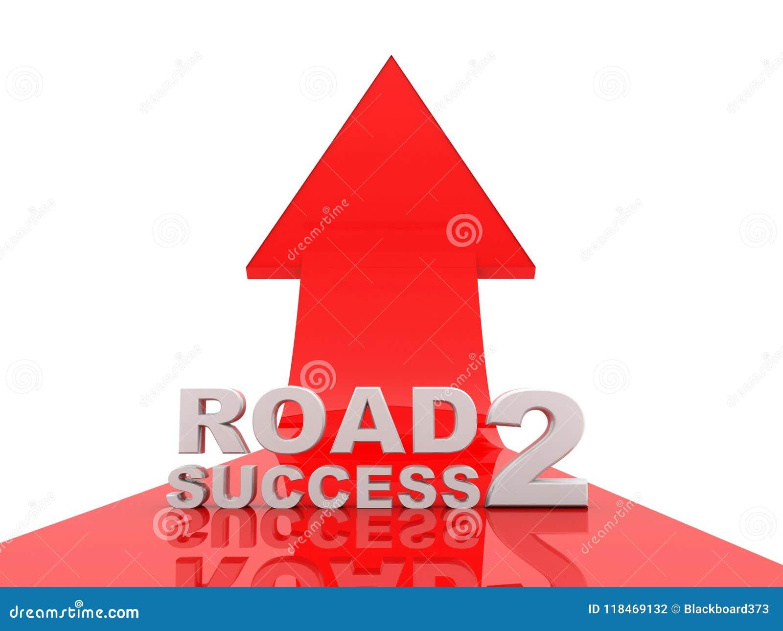 企业成功概念,向成功的路 3d回报