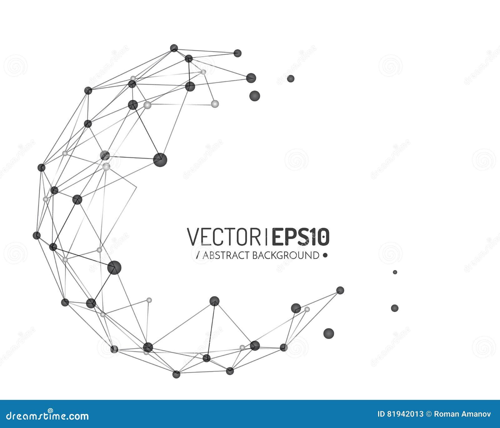 企业或科学介绍的几何传染媒介背景 3d概念连接数齿轮机构