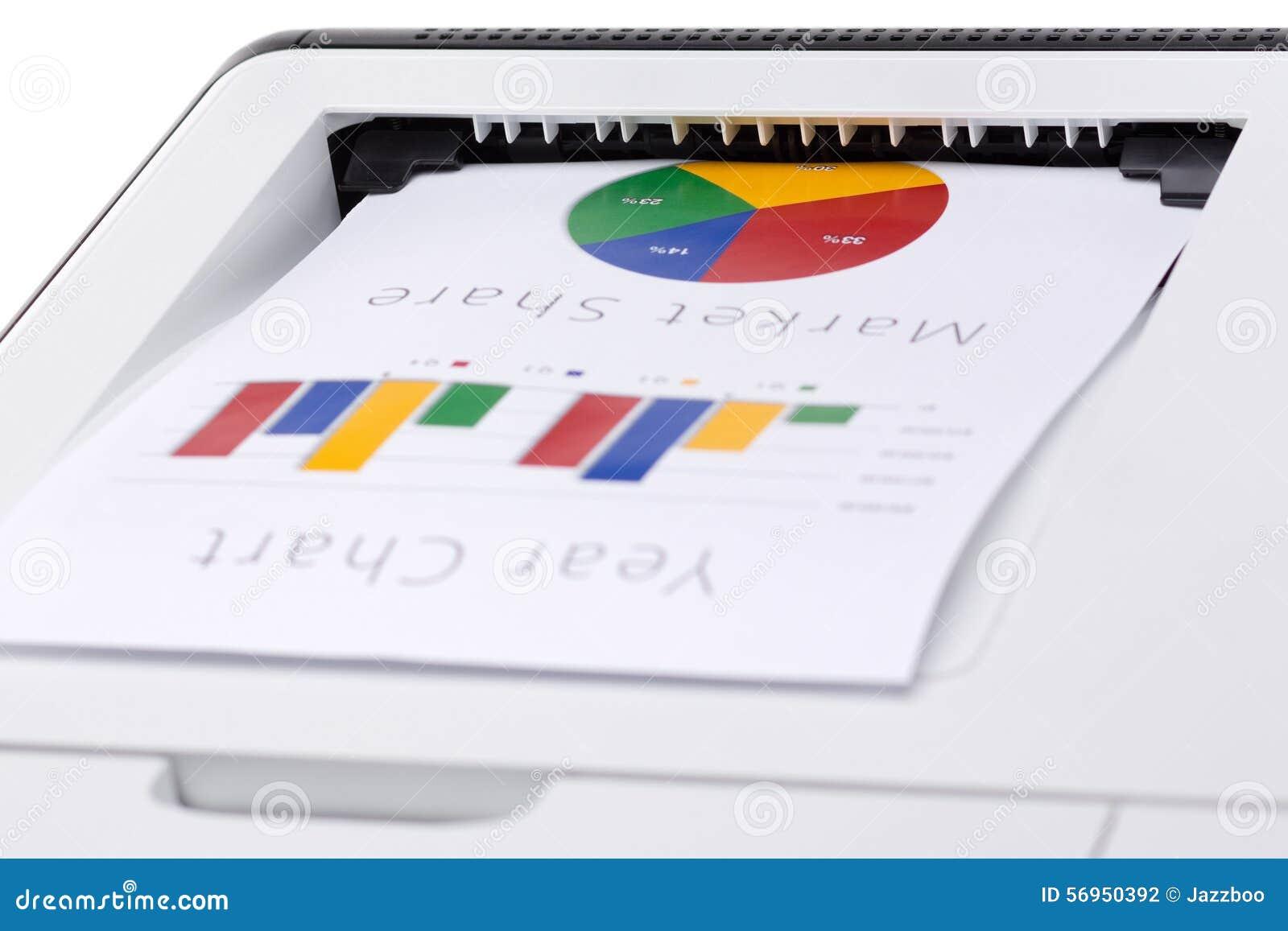 企业打印的颜色图表