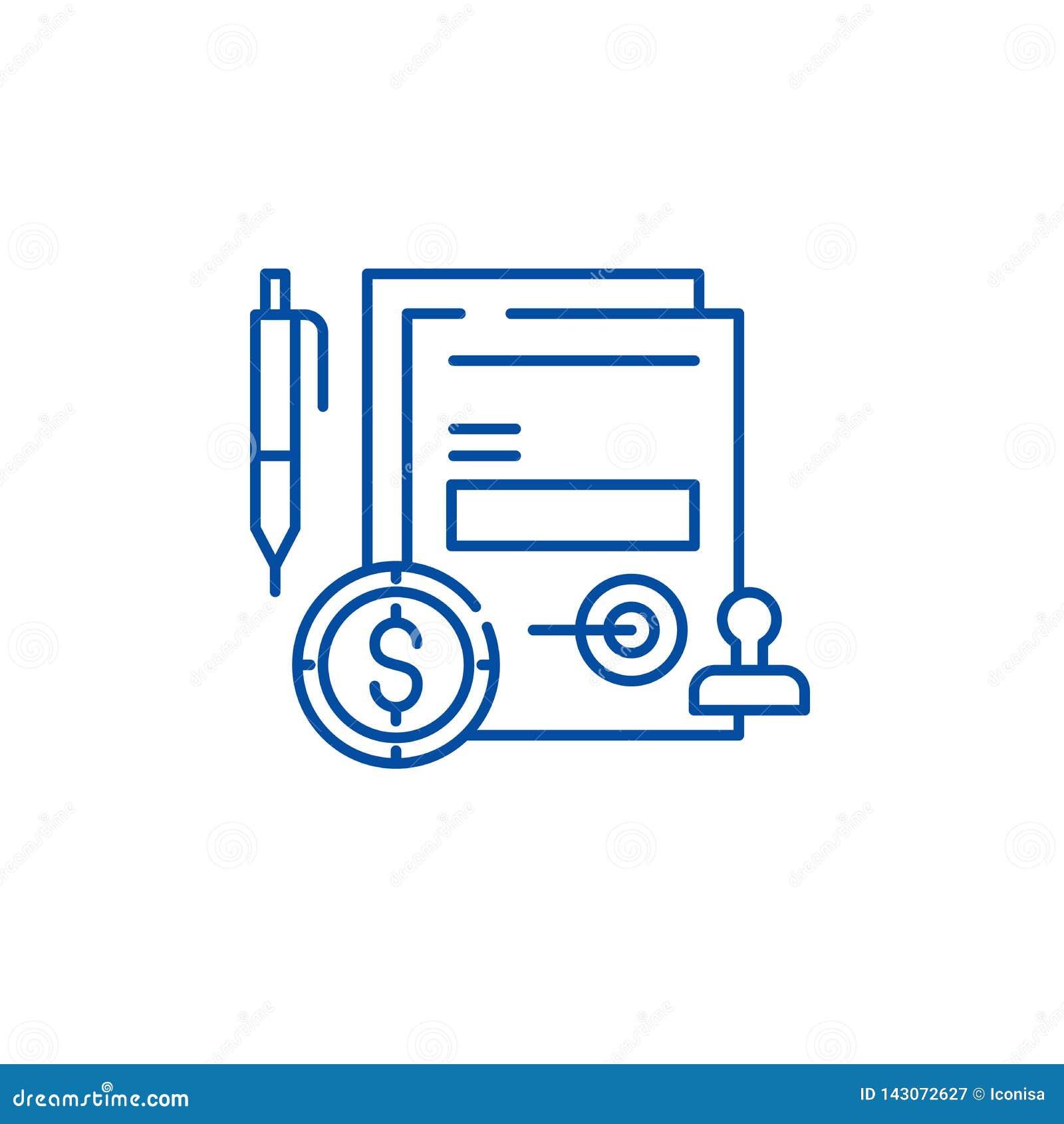 企业承诺线象概念 企业承诺平的传染媒介标志,标志,概述例证