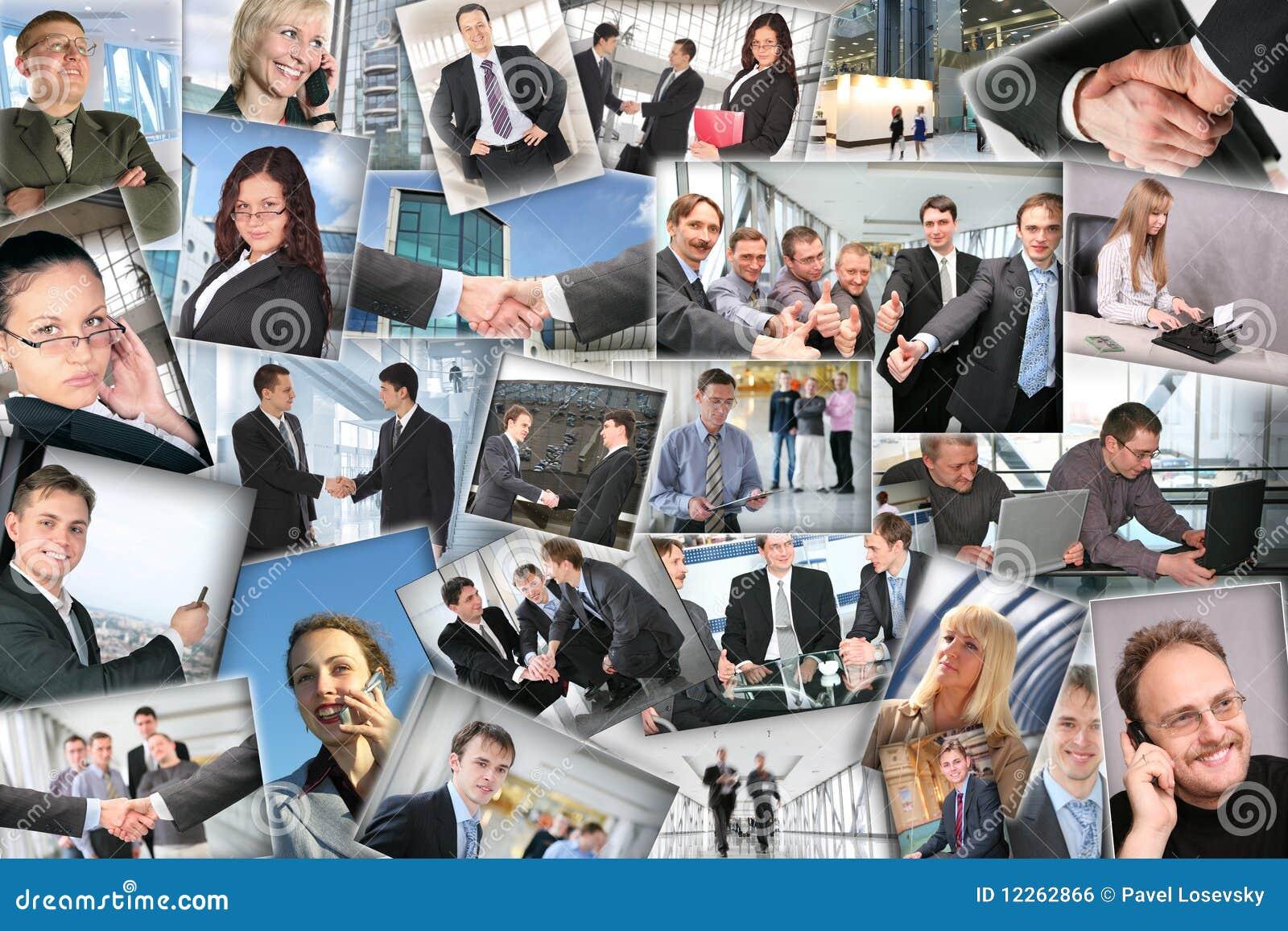 企业拼贴画许多照片