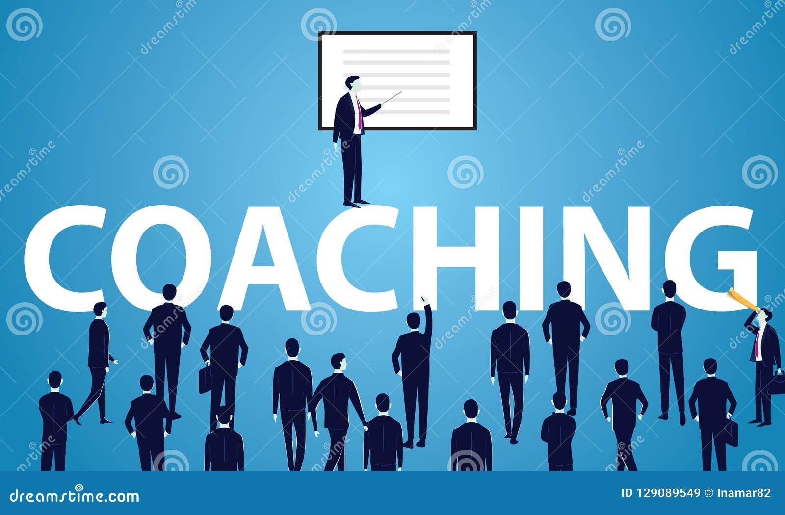 企业教练的领导良师概念 传染媒介illustrat