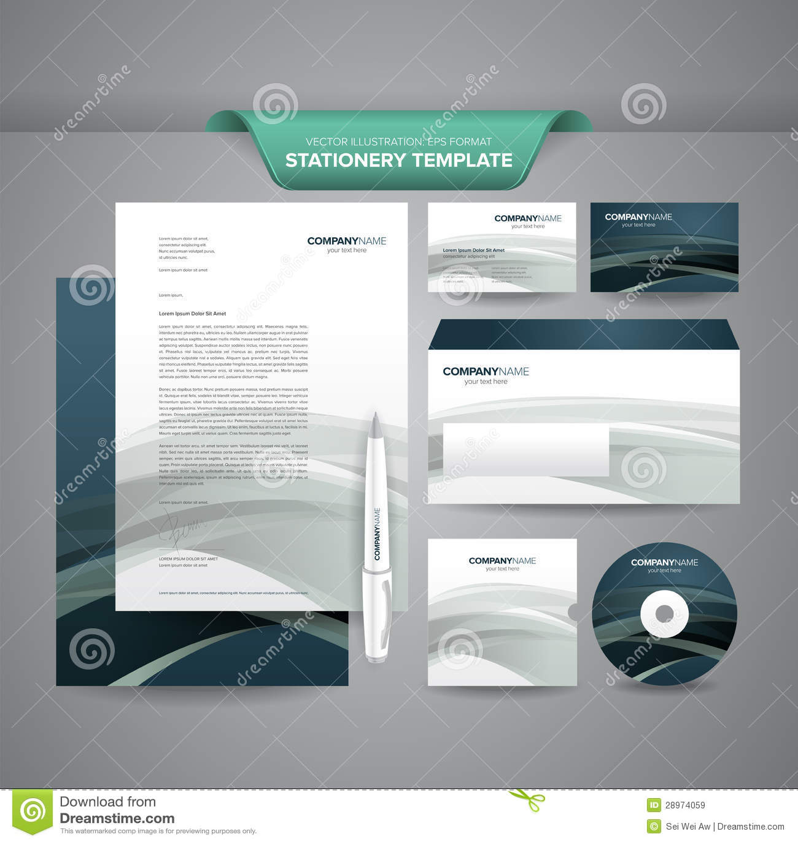 企业文教用品模板