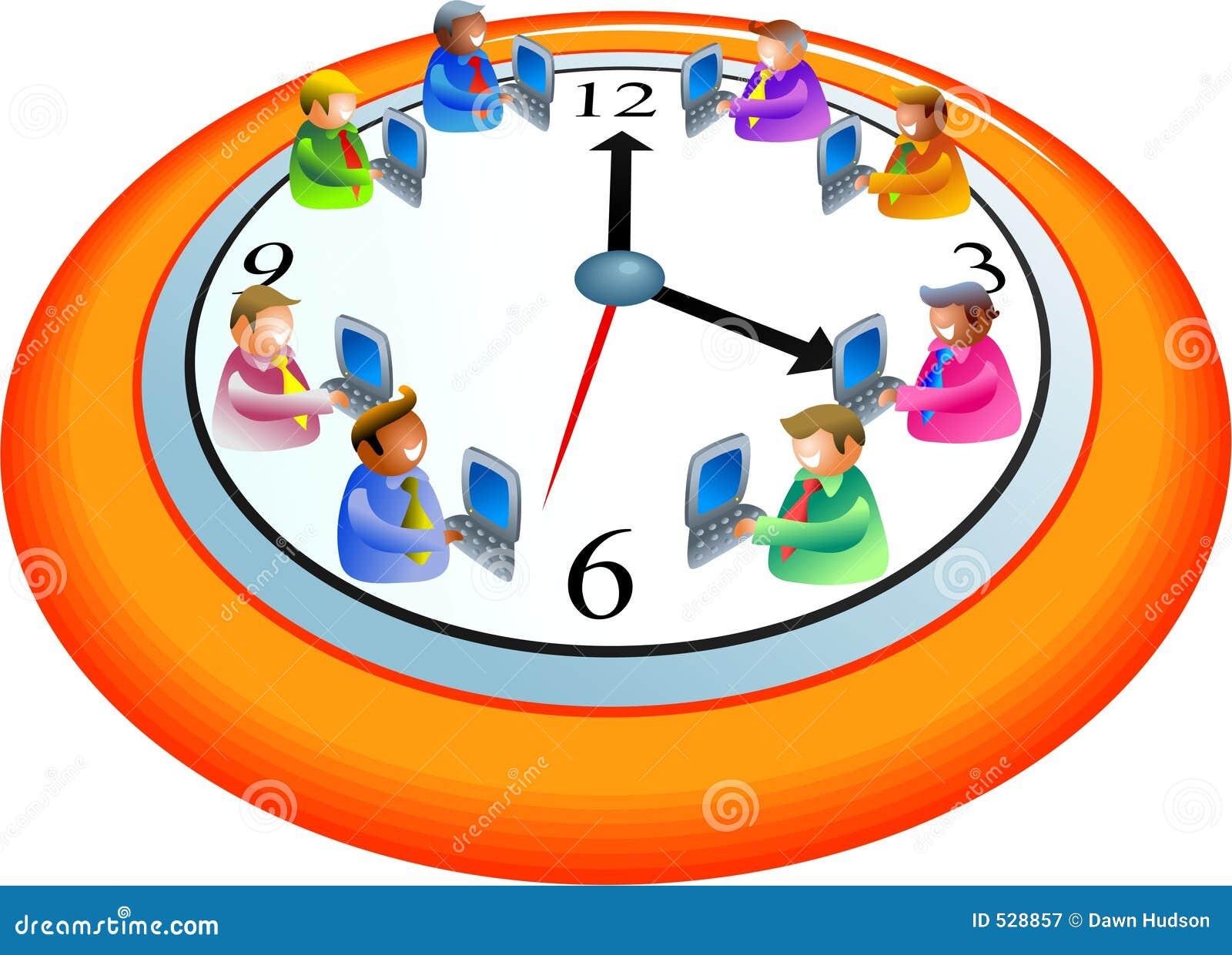 Download 企业时间 库存例证. 插画 包括有 技术, 概念, 配合, 时间, 例证, 人们, 愉快, 计算机, 秘书, 种族 - 528857
