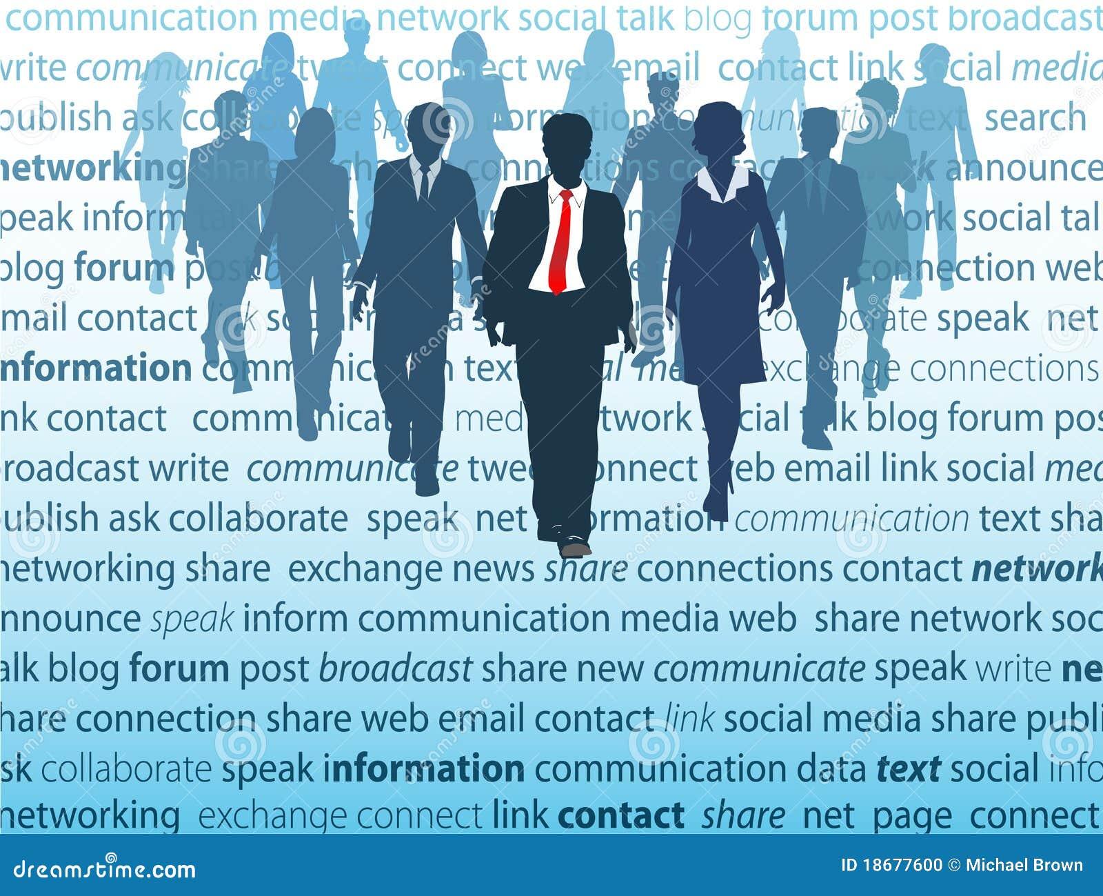 企业概念媒体网络人社交