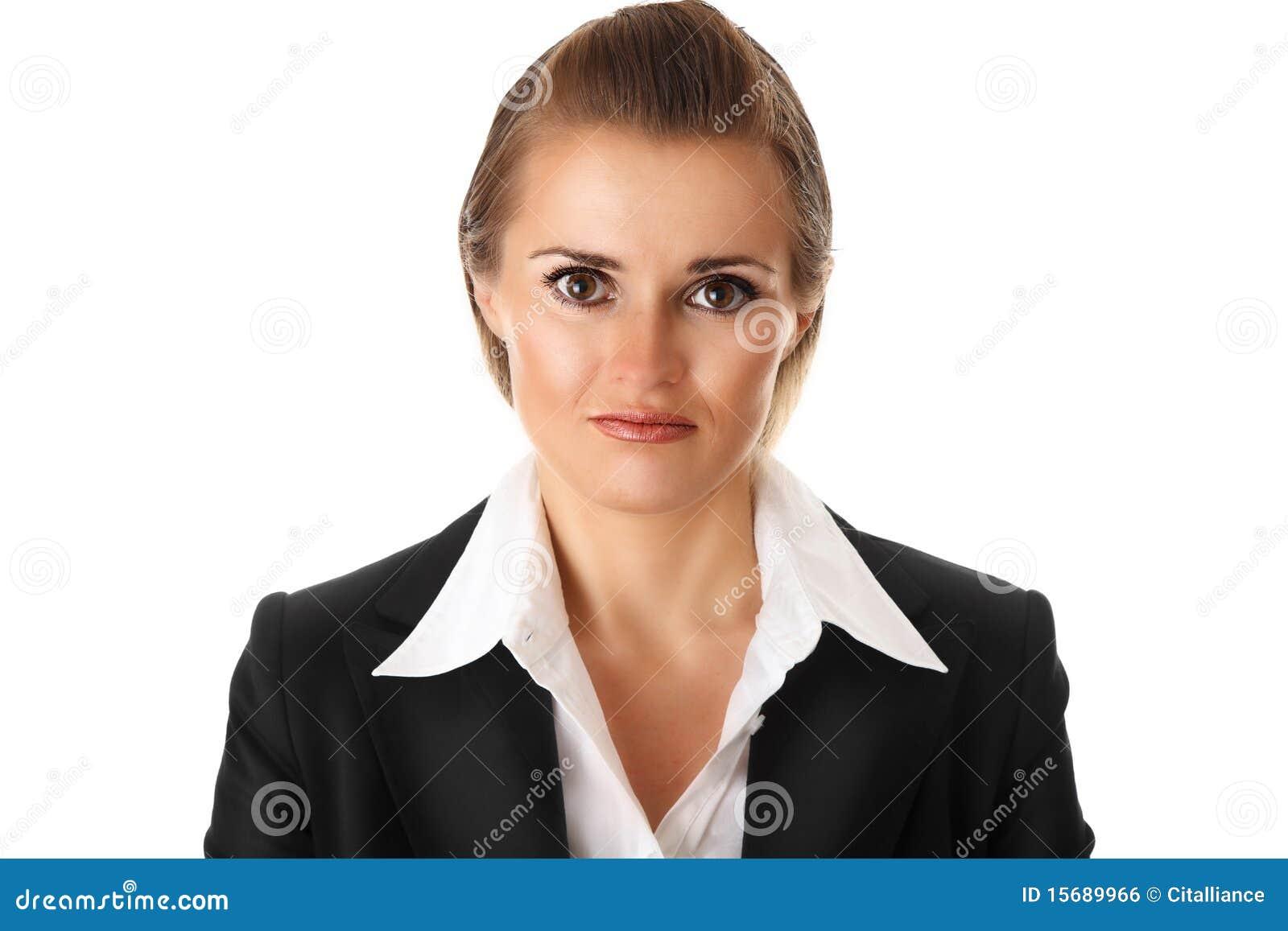 企业沮丧的现代妇女
