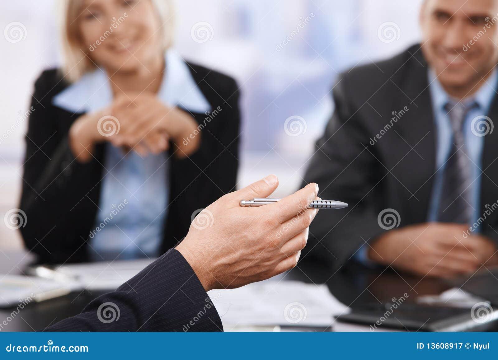 企业特写镜头现有量会议笔