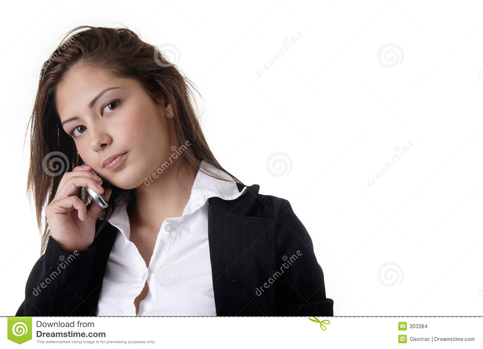 企业移动电话联系的妇女