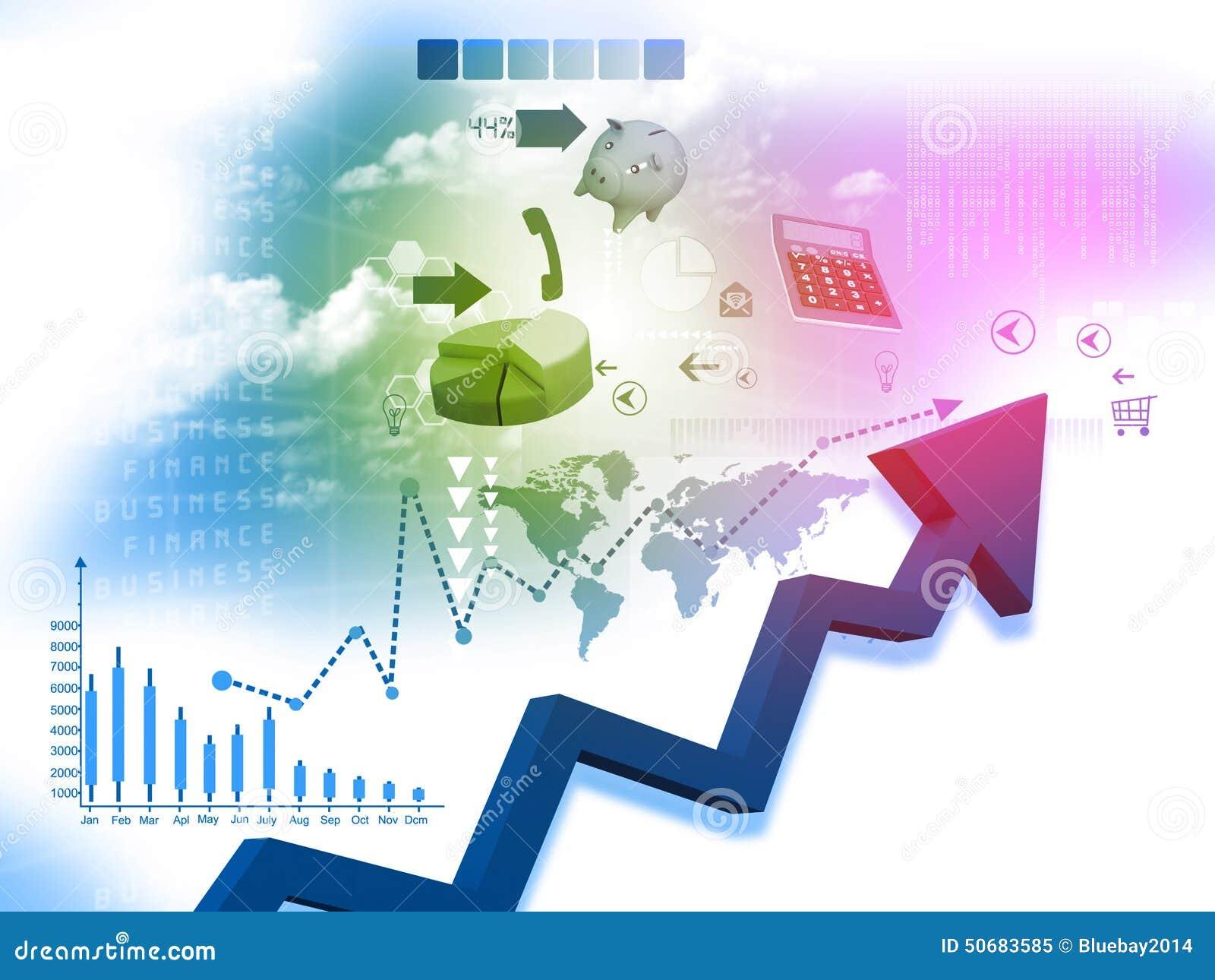 Download 企业箭头图表 库存例证. 插画 包括有 图标, 扩大化, 利润, 美元, beautifuler, 竞争 - 50683585