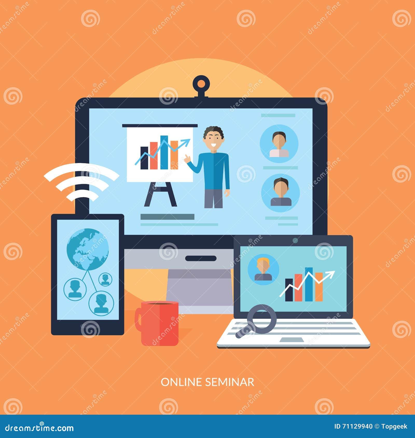 企业网上研讨会概念