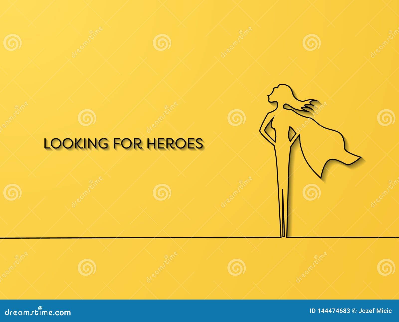 企业聘用和补充重点在妇女的传染媒介概念作为超级英雄 天分,事业机会的标志