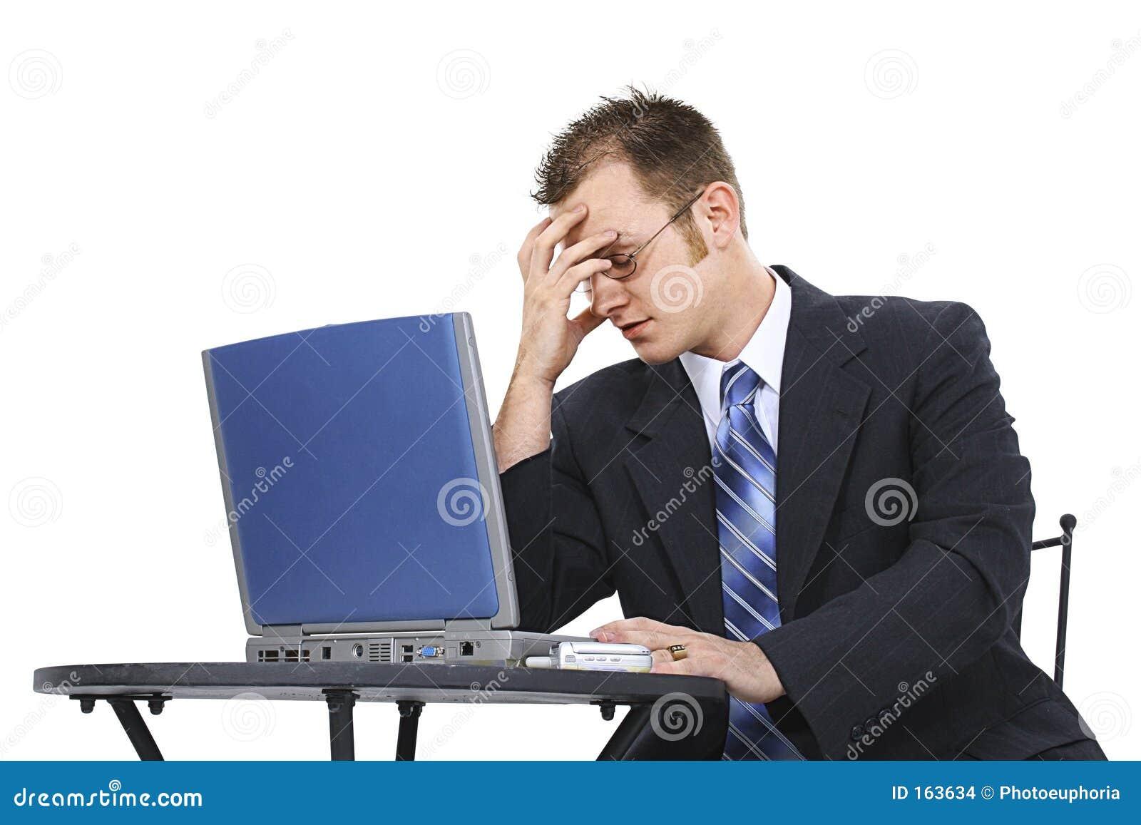 企业计算机沮丧的人诉讼