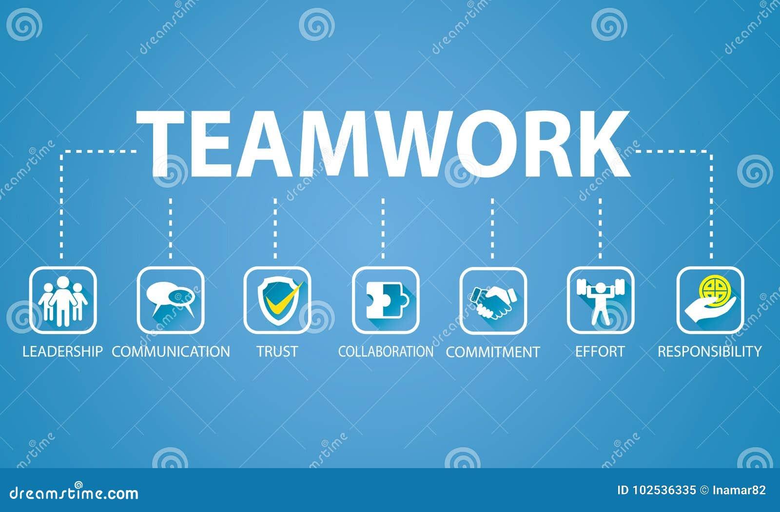 企业配合队坚苦工作概念 也corel凹道例证向量