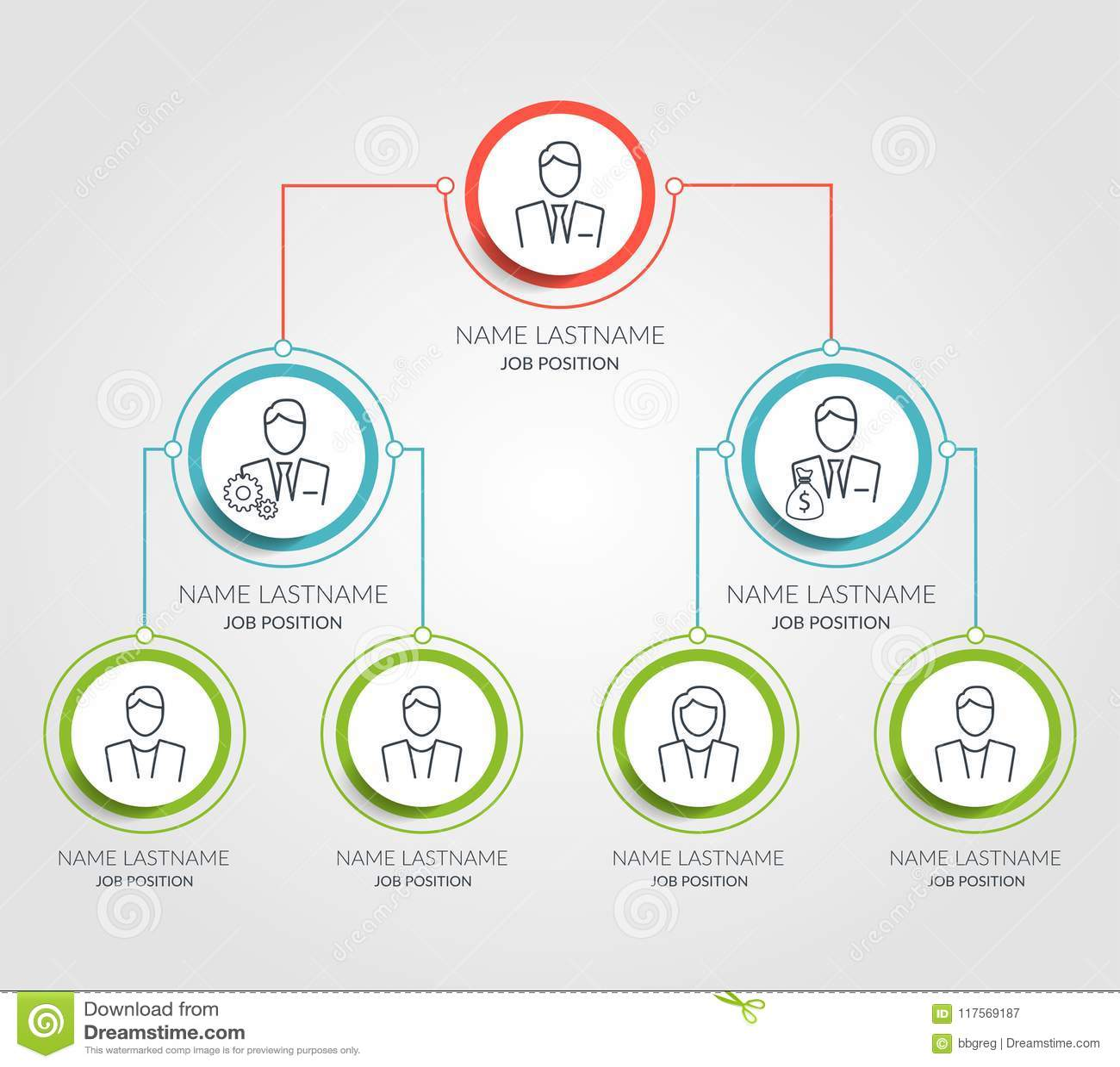 企业阶层圈子图infographics 公司组织结构图表元素 公司组织